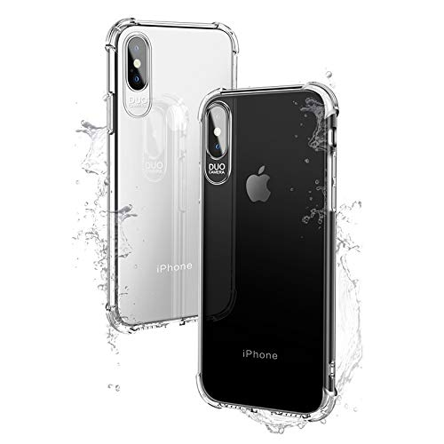 Compatibele Vervangings DUO CAMERA Vier-corner All-inclusive Airbag Shockproof TPU beschermhoes for iPhone X/XS Accessory