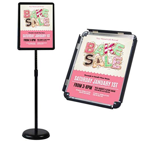 案内板 スタンド ブラックA 3は高広告カード、アルミニウム合金の簡易ポスター棚、店舗ガイド、ポスター掲示板、変更画面
