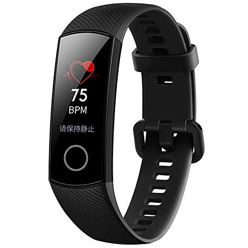 Huawei Honorバンド5 スマートバンドスボッツウオッチ 心拍数 睡眠モニタリング 2.5 Dガラス 無NFC 30日連続使用可能防水 ウオッチ (ブラック)