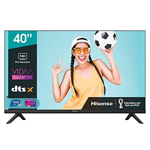 Oferta de Hisense 40AE5500F - Smart TV, Resolución Full HD, Natural Color Enhancer, Dolby Audio, Vidaa U 2.5 con IA, HDMI, USB, Salida auriculares