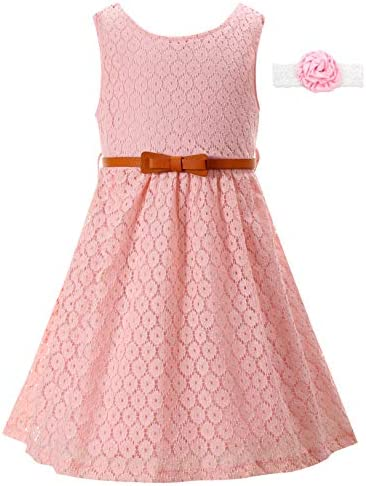 Kids Dress Girls Formal Lace Flower Dresses for Wedding Church Easter Summer Holiday Party Jr product image