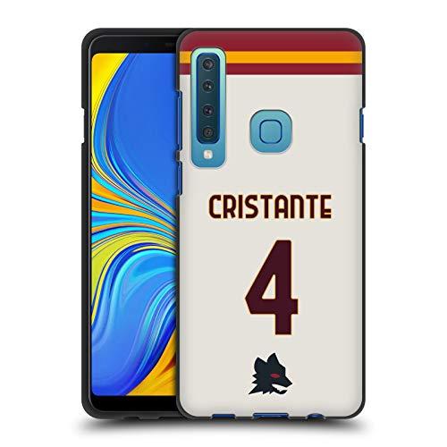Head Case Designs Licenza Ufficiale AS Roma Bryan Cristante 2020/21 Giocatori Away Kit Gruppo 1 Cover Nera in Morbido Gel Compatibile con Samsung Galaxy A9 (2018) / A9s