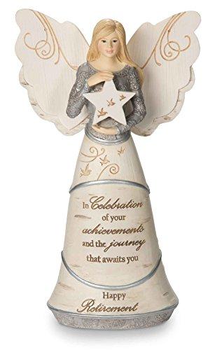 "Pavilion Gift Company 82375 Celebration of Retirement Angel Figurine, 6-1/2"""