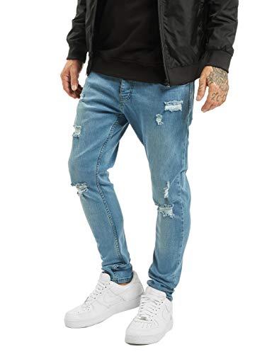 2Y Herren Slim Fit Jeans Malte blau W 33