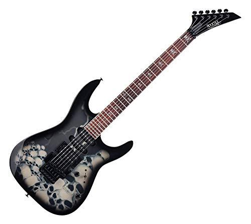Rocktile JK150-BSK - Guitarra eléctrica, diseño de calaveras