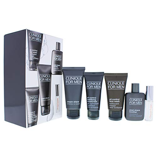 Clinique Clinique Travel Pro By Clinique for Men - 5 Pc Gift Set 0.24oz Clinique Happy Edt Spray, 1.7oz Oil C, 5 Count