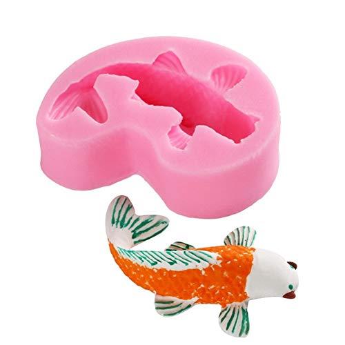 Regun Backform, Koi-Form-Werkzeug verziert Fisch DIY Silikon Backform for Backen Fondant-Kuchen-Dessert