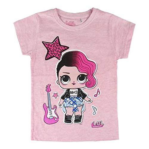 L.O.L Surprise ! Maglietta per Bambina LOL Dolls con Le Bambole Rocker, BFF Fancy & Fresh, Diva, IT Baby e M.C. Swag | Vestiti Estivi per Ragazza 100% Cotone (4/5 Anni, Rocker)