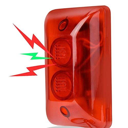 Outdoor Strobe Siren, 12V Wired Sound Sirene Blinklicht Notfall Vorsicht Warnlicht Alarmanlage