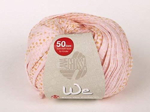 Charity Baumwoll-Bändchengarn, rosa-honig, 50g/75m