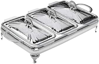 Queen Anne Silver Plated Serving Dish Triple - 3 Lids & 3 Oven Dishes - 0/6303