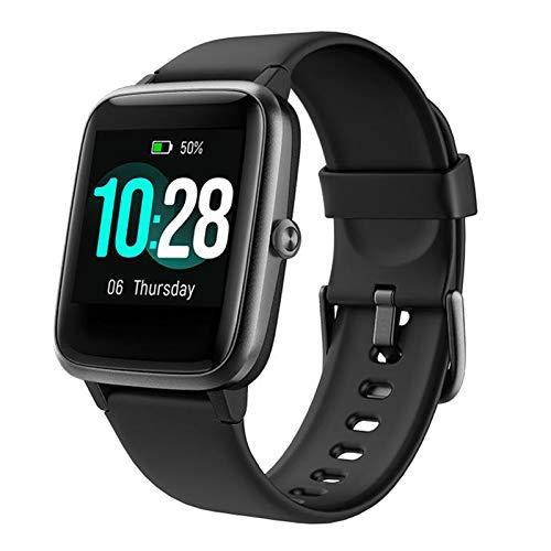prasku Smart Watch Fitness Tracker Impermeable Contador de Pasos Llamada SMS Recordatorio Negro
