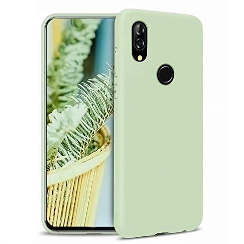 Ttimao Kompatibel mit Huawei P20 Lite Hülle Flüssiges Silikon Gel Schutzhülle+1*Displayschutzfolie Anti-Schock Handyhülle mit Soft Microfiber Cloth Lining Kissen-Grün