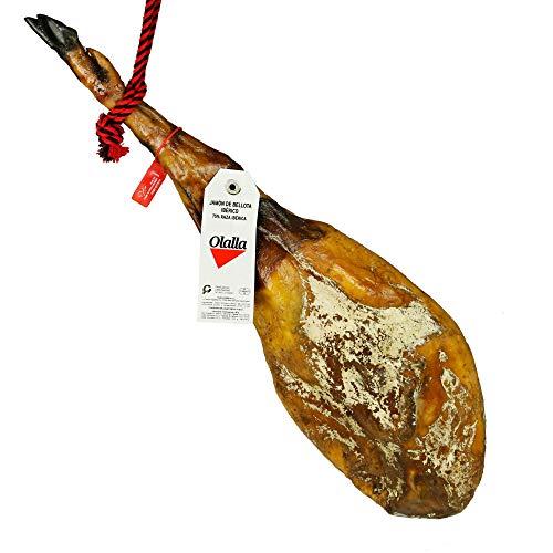 Jamon Iberico de Bellota 75% Raza Iberica - Jamon Iberico de Elaboracion Artesanal - Embutidos Ibericos de Bellota - Pieza Tradicional Completa (6.5 - 7 kg)