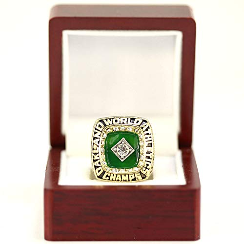 WSTYY MLB 1989 Oakland Athletics Championship Ring Champion Rings Replica Creative Ring para Mujeres y Hombres,with Box 11#