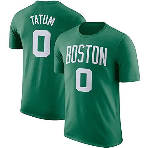 LGLE Camisetas de Baloncesto para Hombres y Mujeres, Jayson Boston # 0, Ropa Deportiva de Secado Rápido para Hombres, Manga Corta Informal de Verano al Aire Libre,Green,3XL