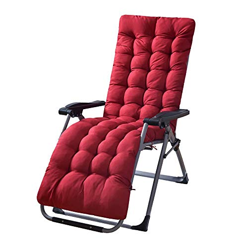 Sun Lounger Chair Cushions, Sunlight Patio Cushions Chaise Patio Outdoor Mattress Garden Recliner Quilted Thick Padded Seat Cushion Reclining Chair Rocking with Ties