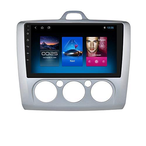 9 Pollici Android 10 Navigazione per Autoradio Stereo Supporta Bluetooth WiFi MirrorLink Fit per Ford Focus Exi MT 2 3 MK2 / MK3 2004 2005 2006 2007 2008 2009 2010 2011 (Argento)