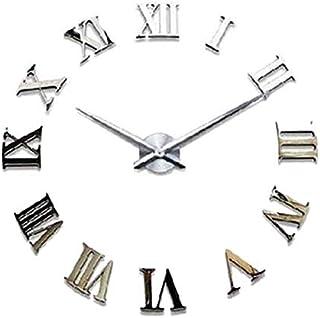 Winsopee Modern Diy Large Wall Clock , Silver