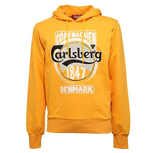 Carlsberg 7004J Felpa Uomo Slim Fit Yellow Cotton Sweatshirt Man [XL]