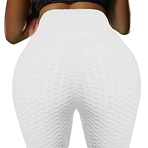 Mdsfe Push Push Panty voor dames, yoga, workout, hoge taille, fitness, hardlopen, sportbroek Small wit-A8989