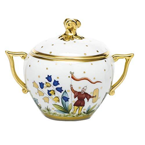 Herend Asian Garden Porcelain Covered Sugar