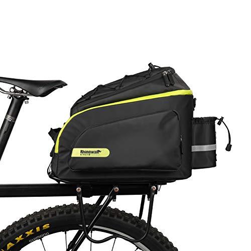 Volkcam Fahrradtasche, 17L Fahrrad Gepäckträgertasche Hohe Kapazität Wasserdicht Fahrradtasche für Fahrrad Satteltasche Umhängetasche Laptop Packtasche, Mehrere Fächer, 39 * 19cm