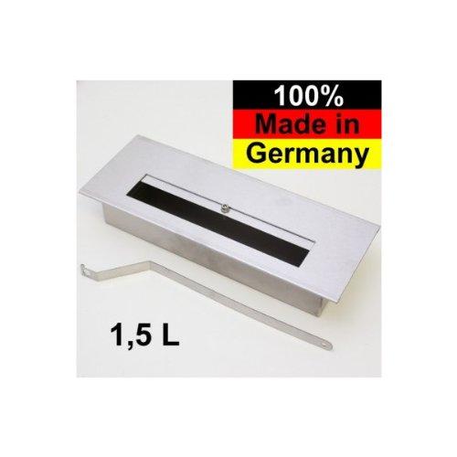 BRUCIATORE DI ETANOLO IN ACCIAIO INOX 1,5L PER CAMINO CAMINETTO AL BIOETANOLO MADE IN GERMANY