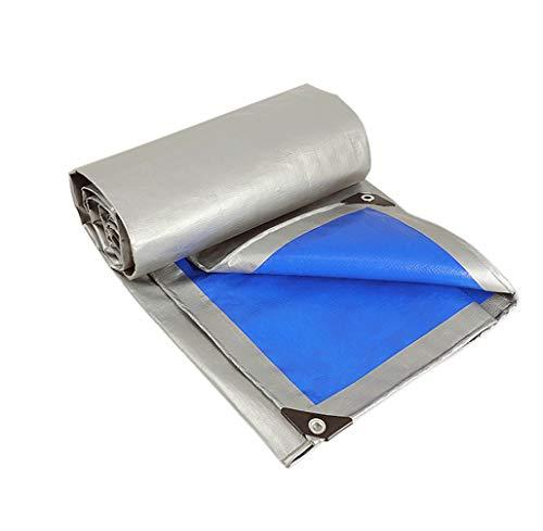 QWER Cubierta Muebles Mesa Lona Impermeable Protector Solar Al Aire Libre Engrosamiento Lona Sombra Plástico Lluvia Toldo Camión Lona (Color : Royal Blue, Size : 6x12m)