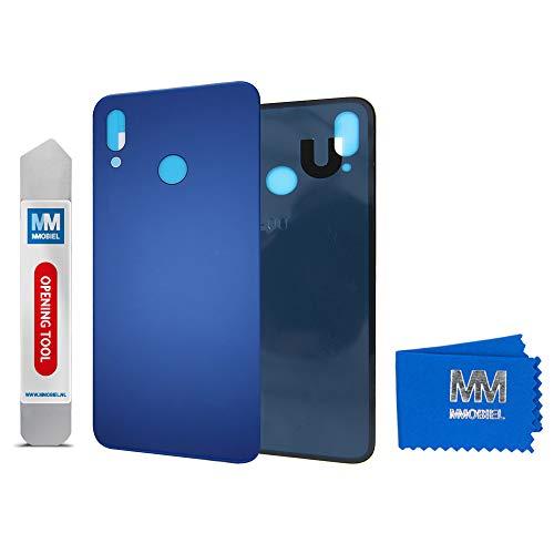 MMOBIEL Tapa de Bateria Cubierta Trasera de Vidrio Compatible con Huawei P20 Lite 2018 5.84 pulg (Azul Klein)