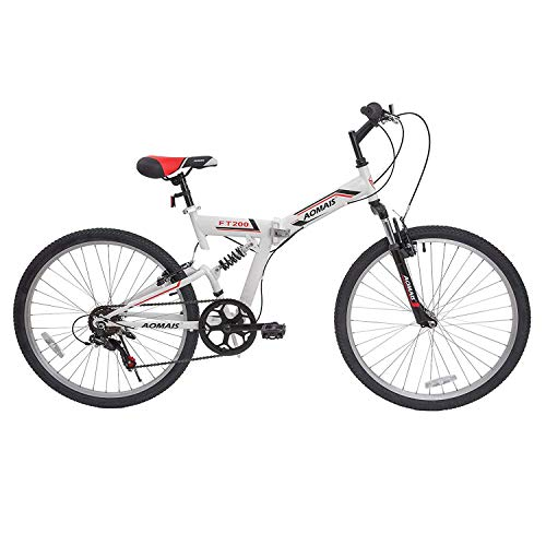 Murtisol Folding Mountain Bikes 26'' Foldable Bikes with Softtail Full Suspension & Designed...