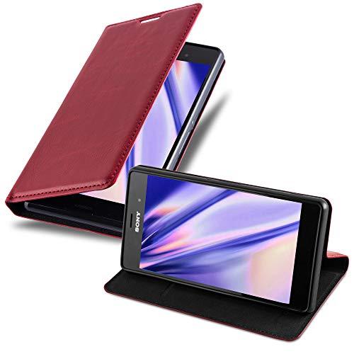 Cadorabo Custodia Libro per Sony Xperia Z3 in Rosso Mela - con Vani di Carte, Funzione Stand e Chiusura Magnetica - Portafoglio Cover Case Wallet Book Etui Protezione