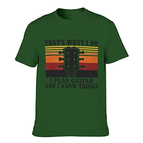 Ich Spiele Gitarre und weiß Dinge T-Shirts für Männer Zabawny humor Wear