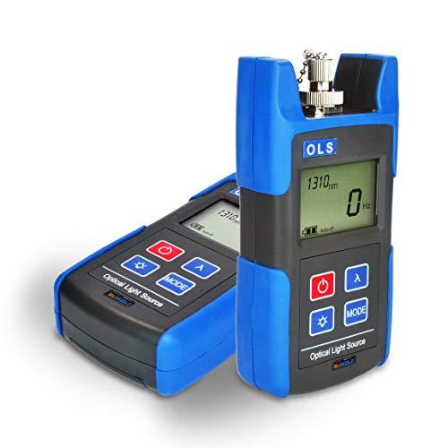 SUWOLF 1310/1550nm Tragbar FTTH Mini Fiber Optical Laser Light Source,Lwl messgerät/Glasfasertester/Fiber Optic Cable Tester Tool mit SC FC ST-Adapter für die Wartung von CCTV-CATV-Anlagen
