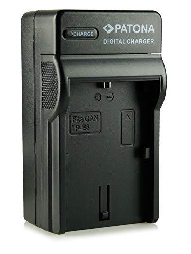 Patona® Cargador de batería con conexión micro USB para batería LP-E6, Canon EOS 5D Mark II / 5D Mark III | EOS 7D | EOS 60D / 60Da y mucho más