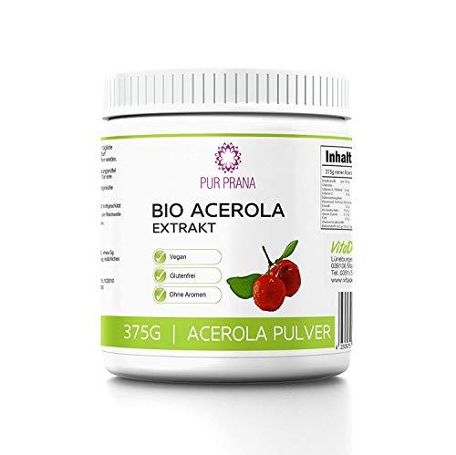 Pur Prana Bio Acerola Vitamin C Pulver Superfood Acerolapulver Kirsche (375 Gr)