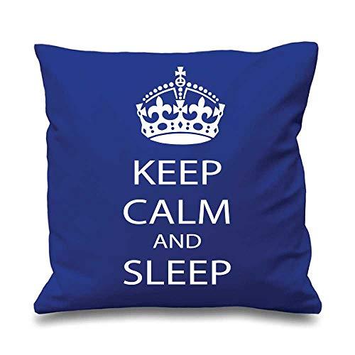 Bleu Housse de coussin Keep Calm and dormir 16\