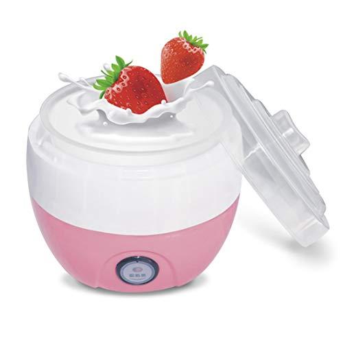 FAY Elektrische automatische Joghurt-Maschine 1L, Multifunktionswerkzeug-Küchengeräte des Nahrungsmittelgrad-Plastikzwischenlagen-DIY, verwendbar für 2~3 Leute,Rosa