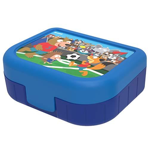 Rotho Memory Kids Vesperdose 1l mit Deckel und Klickverschluss, Kunststoff (PP) BPA-frei, blau mit motiv