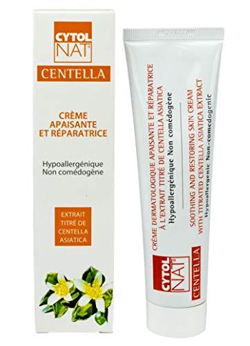 CYTOLNAT® Centella 100 ml, Crema reparadora y calmante – Centella Asiática – Hipoalergénica y no comedogénica