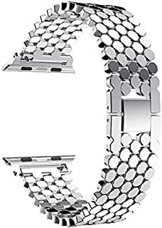 Ozone 38mm Apple Watch Strap Octagon Stainless Steel Replacement Band For 38mm Series 1/2/3 - Silver