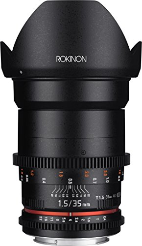 Rokinon Cine DS DS35M-N 35mm T1.5 AS IF UMC Full Frame Cine Wide Angle Lens for Nikon