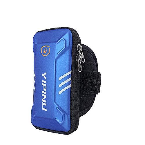 Ejecución de Brazalete Deportivo Brazalete de Running con Llave de Bolsillo para iPhone, Galaxy, Brazalete Impermeable al Aire Libre para Caminar Ciclismo Ciclismo