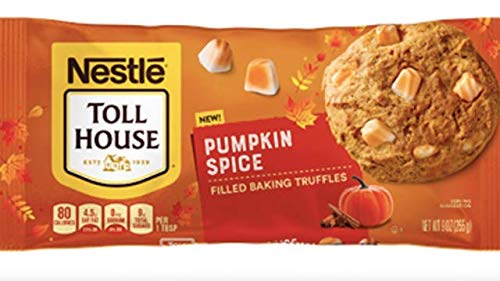 Nestle Toll House Pumpkin Spice Flavored Filled Baking Truffles 9 oz. Bag