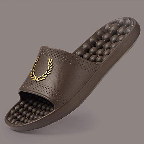 Cxypeng Chanclas Piscina Niña Sandalias,Zapatillas de acupuntura de Masaje Pedic, Sandalias de baño de Fondo Grueso para el hogar-Brown_39-40,Zapatos De Piscina Casa Hogar Slide