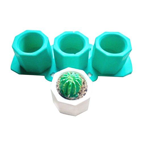 Cutogain Moules en silicone pour pot de fleur en céramique ou béton Pour Cactus Fleur