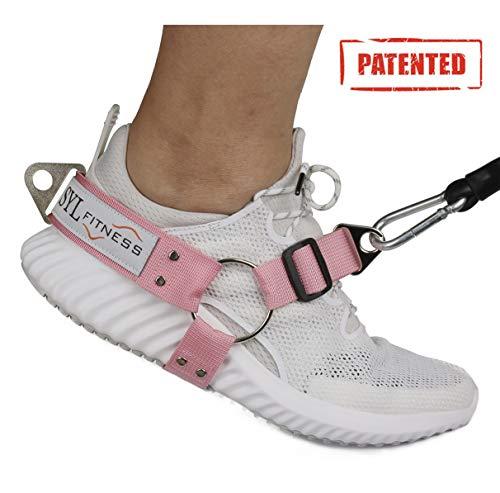 SYL Fitness Fußschlaufen für Kabel-Maschinen und Widerstand Band - Booty Builder Ankle Straps für Glute Übungen gesäß Training - Home und Gym Beinwiderstand Booty Building (Rosa, Damen Qty:1)