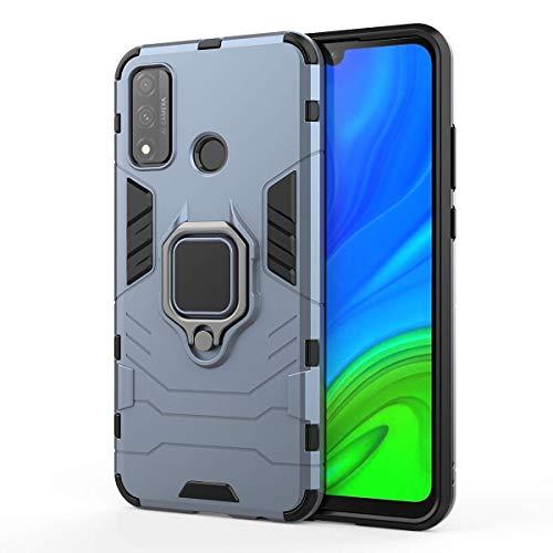 XIFAN Hülle für Huawei P smart 2020 [Strapazierfähig] Ring Ständer, [Funktioniert Mit Magnetischer Autohalterung] Hülle Schutzhülle, Blau