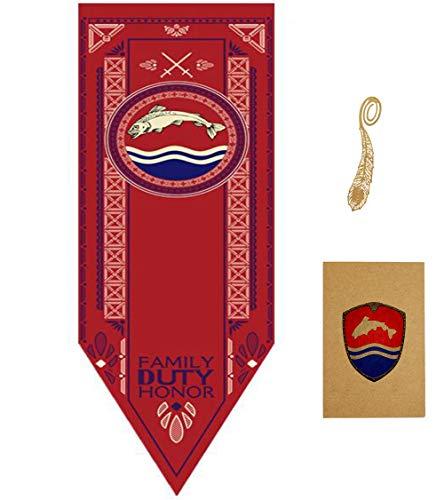 HUICI Banderas Juego de Tronos Pared Banderas Casa Decor 46 * 150 CM
