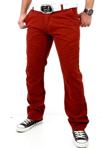 Tazzio Heren Colored Vintage Jeans Chino broek TZ-5133 Rood